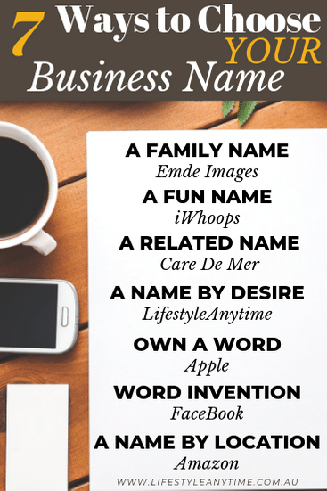7 ways to choose a business name