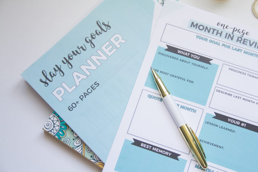 Slay your goals planner for goal setting