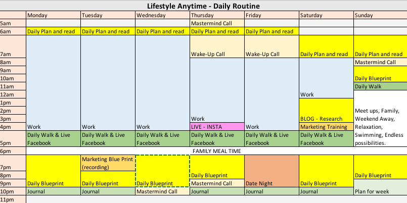 Laptop Lifestyle Anytime Schedule