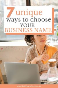 7 unique ways to choose your business name