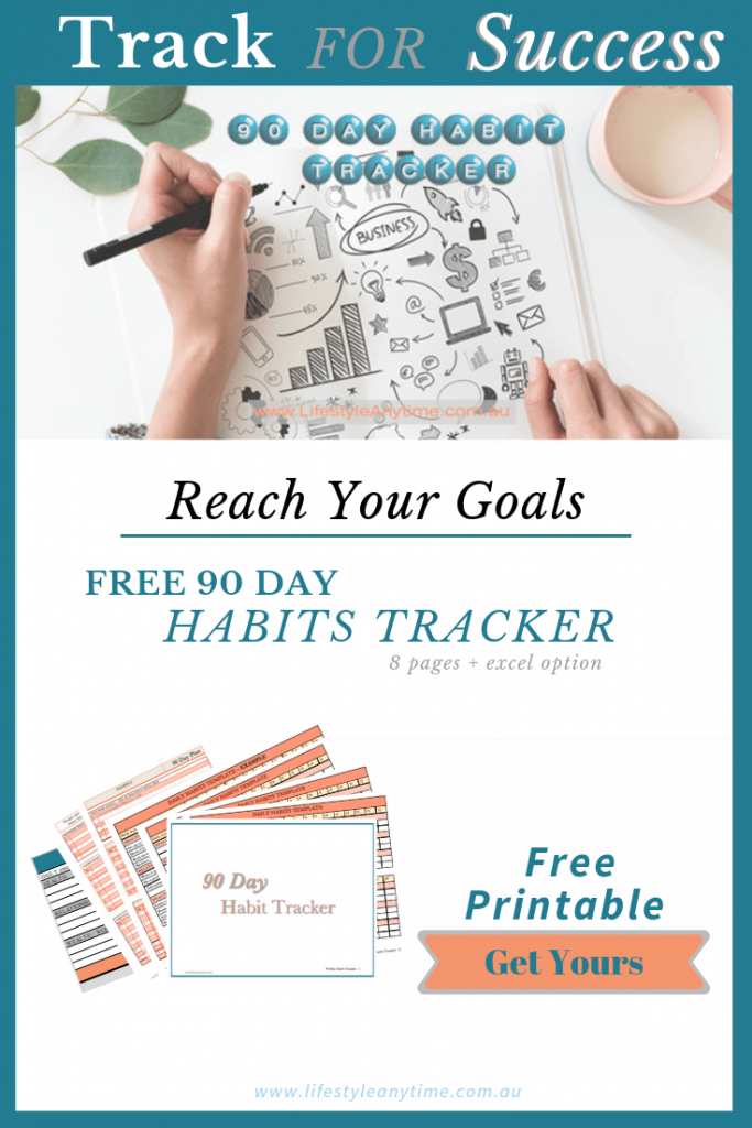 Track for Success Reach your goals get your 90 day habits tracker