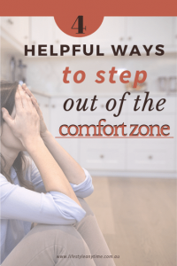 Don't sit worried on the kitchen floor read 4 helpful ways to step out of the comfort zone
