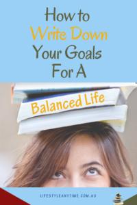 work life balance goals