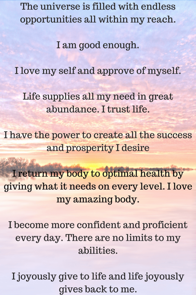 Start your day with daily affirmations