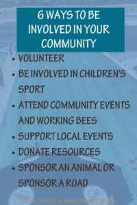 be involved in your community