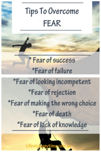 Put fear into perspective, tips to overcome fear