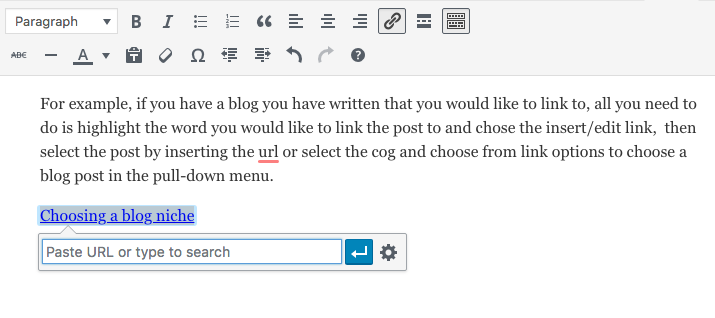 add a banner or link to wordpress post