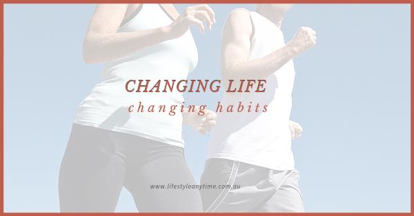 Lady and man power walking, changing life, changing habits.