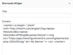 add affiliate banner to wordpress blog post