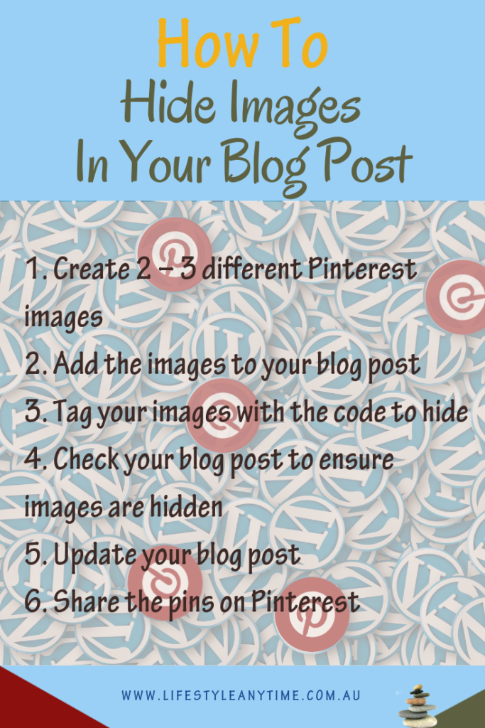 Hide Pinterest images in blog