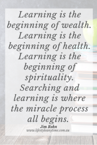 Jim Rohn Quote Learning is the beginning of wealth