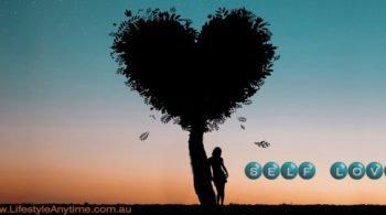 self love women, heart tree