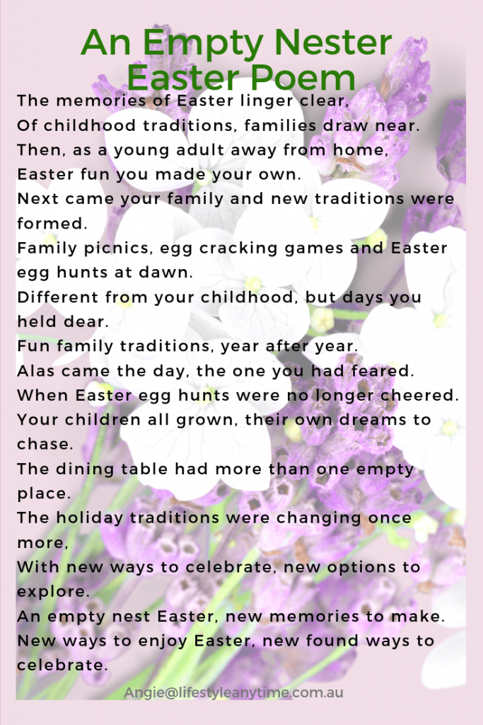 An empty nest Easter Poem