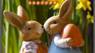 Easter bunnies enjoying Easter as empty nesters