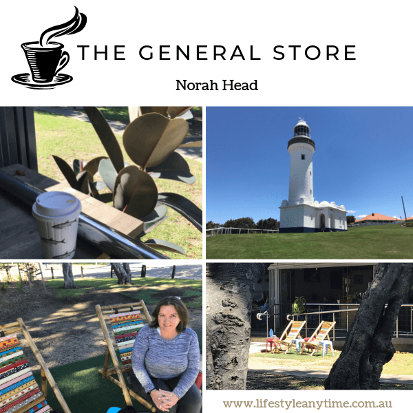 The general store, ark cafe and Norah Head lighthouse at Norah Head