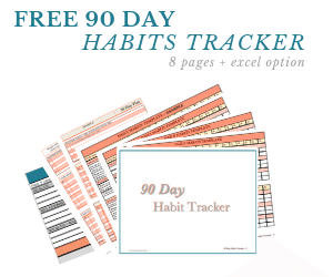 90 day habit tracker