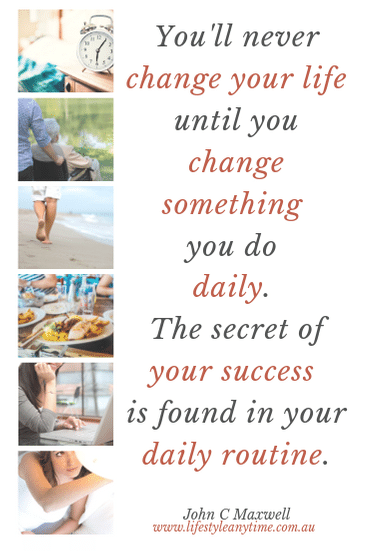 Success if found in your daily routine. Track for success. John C Maxwell quotes says 'You'll never change your life until you change something you do daily. The secret of your success is found in your daily routine.