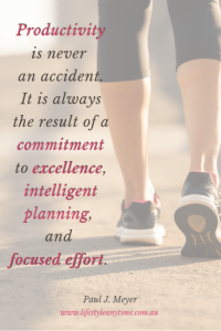 A lady walking.Productivity is never accident. It is always the result of a commitment to excellence, intelligent planning and focused effort. Paul J Meyer quote
