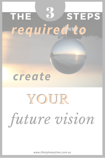 Crystal ball not needed. The 3 steps required to crete your future vision.