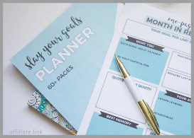 Slay your goals planner and pen