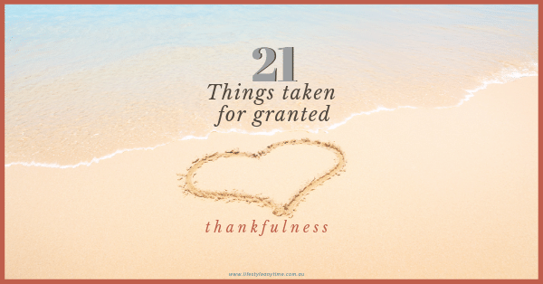 Love heart of thankfulness drawn in the sand to show appreciation of the things taken for granted.