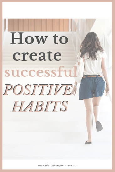 How to create successful positive habits like the lady walking up the white stairs