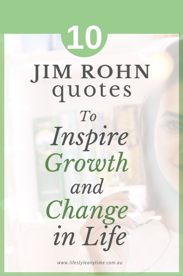 10 Jim Rohn quotes to inspire change and growth in life
