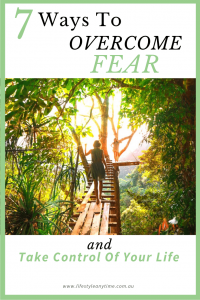 Walking that bridge is possible when you learn how to overcome the 7 fears and take control of your life.