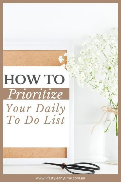 Organizing the to do list