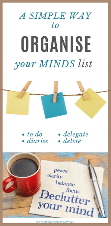 A simple way to organize your minds list.