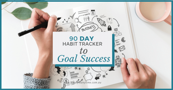 journaling 90 day habit tracker