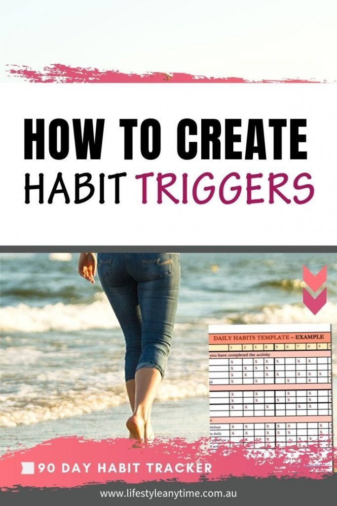 How to create habit triggers with 90 day habit tracker.
