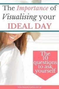 Lady expresses joy, smiling visualizing your ideal day