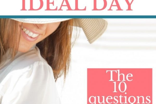 Lady expresses joy, smiling visualizing your ideal day
