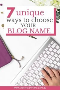 7 unique ways to choose your blog name