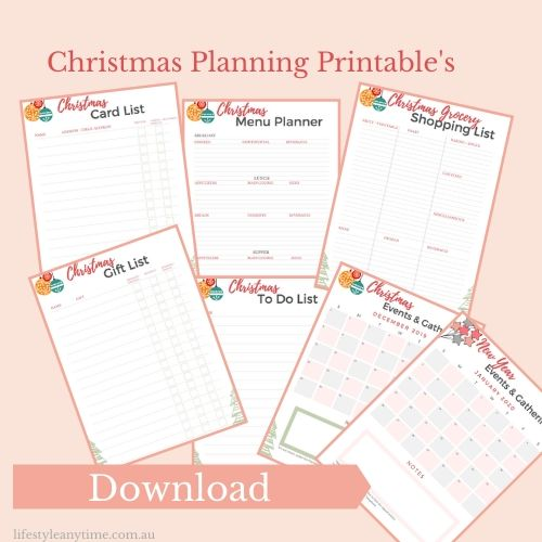 7 page Christmas Planning Printable available for download
