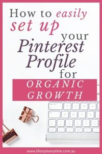 How to easily set up your Pinterest profile