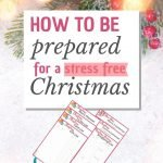 how to be prepared for a stress free Christmas