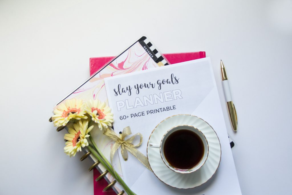 Slay your goals planner 60+ page printable planner to help you achieve your goals