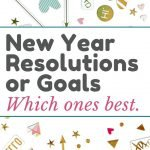 New year resolutions vs goals