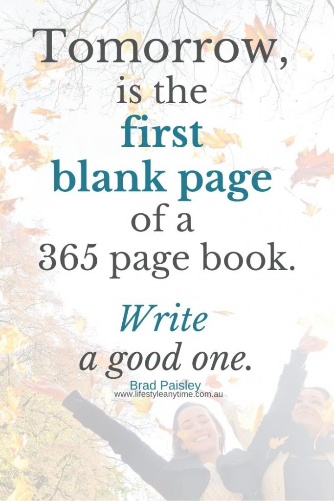 Tomorrow is the first blank page of a 365 page book. Write a good one.