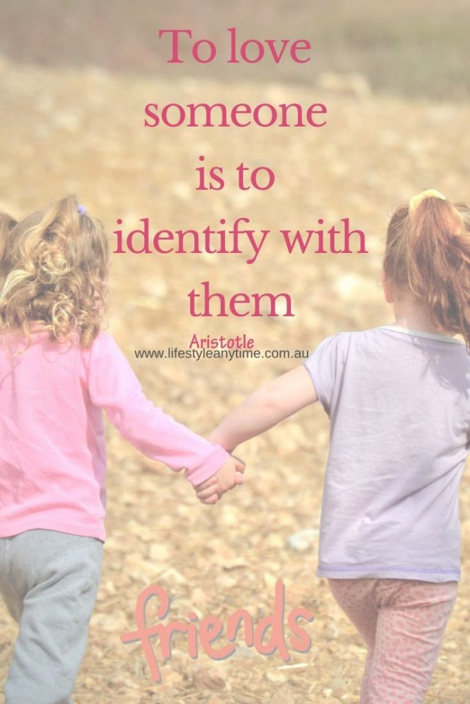 To love someone is to identitfy with them