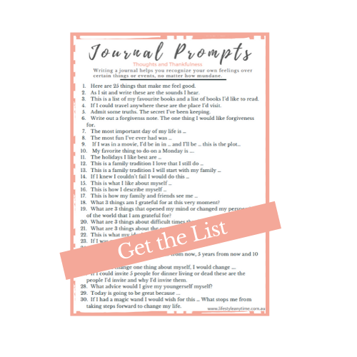 A list of 30 Journal prompts