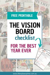 The vision board template for the best year ever