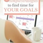 Find time for your goals for goal success