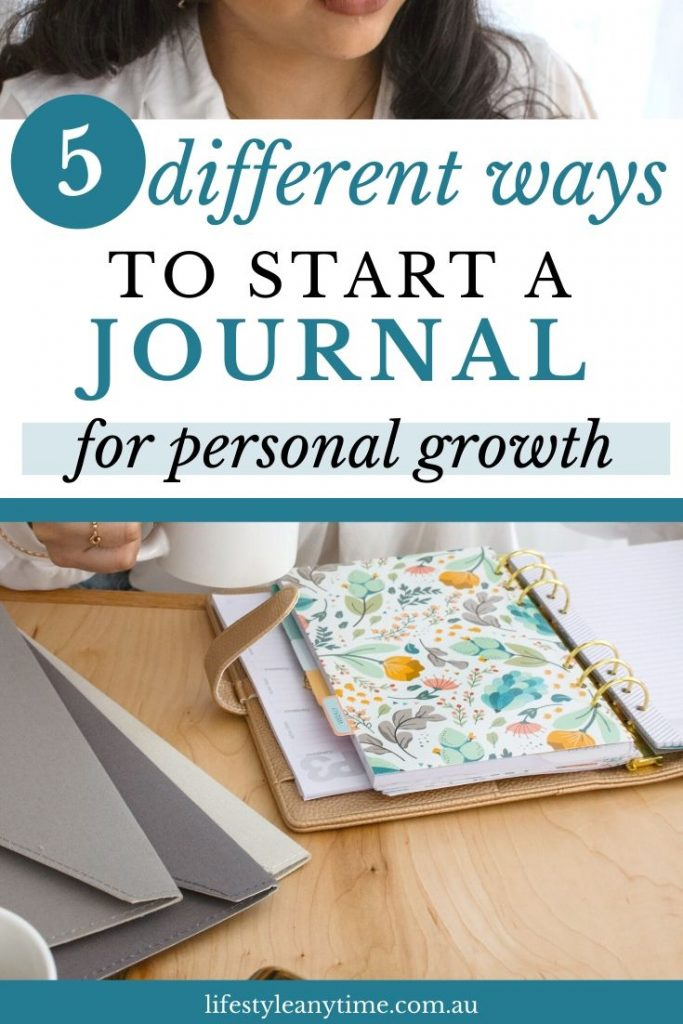 Start a personal journal for personal growth