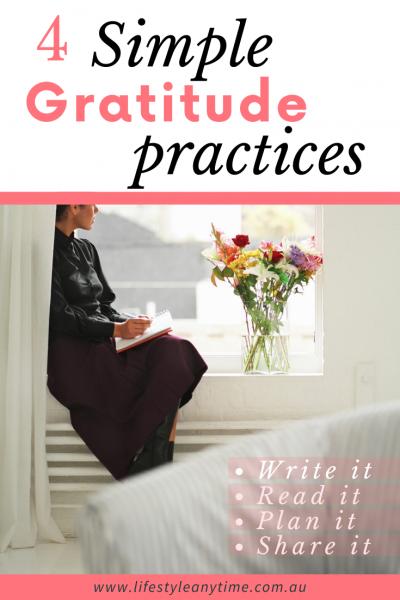 write it, read it, plan it, share it 4 practices of gratitude
