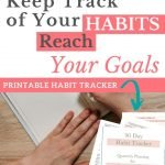 Tracking habits with a habit tracker