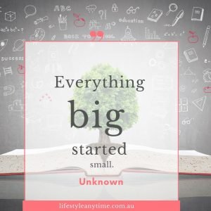 Everything big started small