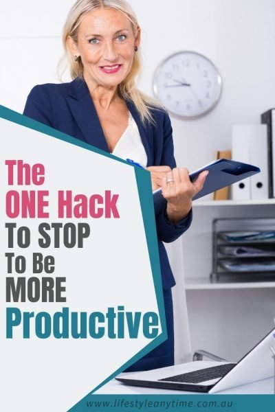 The one hack to stop to be more productive